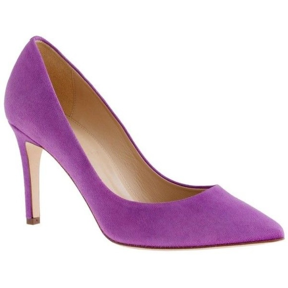 J. Crew Shoes - J.CREW EVERLY PURPLE SUEDE HEELS SHOES PUMPS 8.5